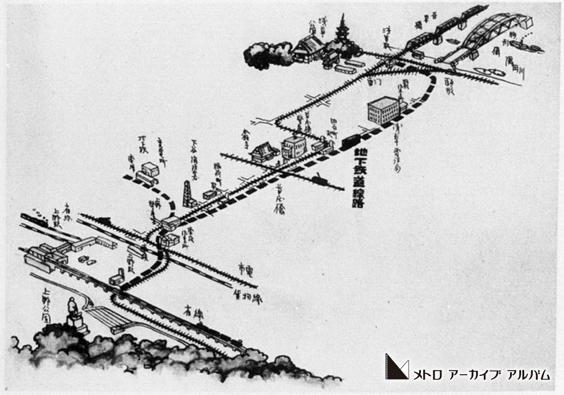 東京地下鉄道 路線イラスト