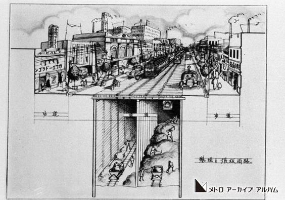 地下鉄建設工事のイラスト