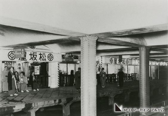 商業施設と直結した駅