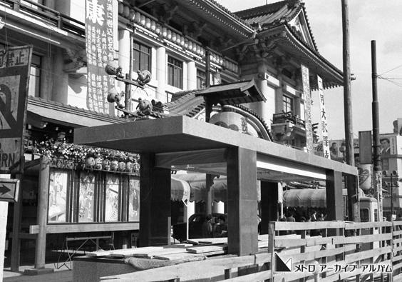 工事中の東銀座駅出入口
