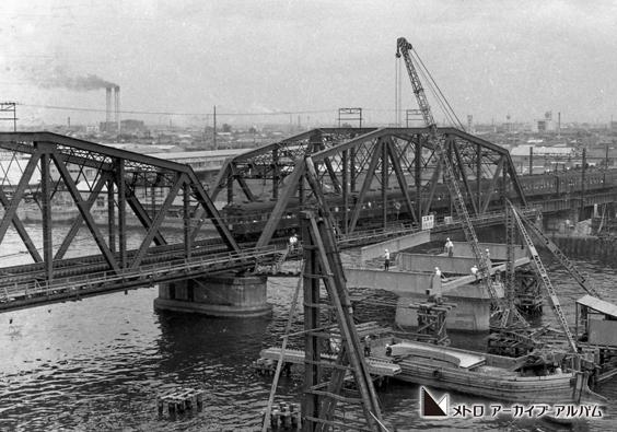 日比谷線隅田川鉄橋工事