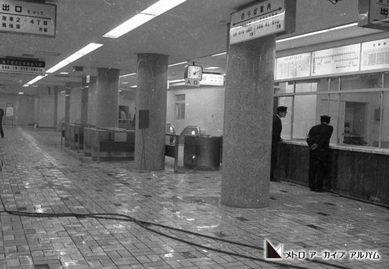 開業を待つ東銀座駅