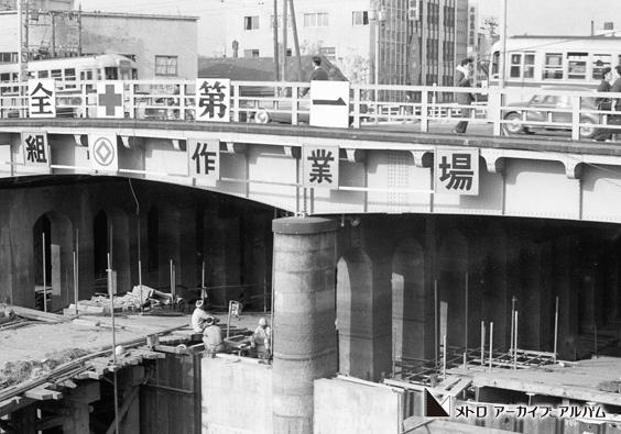 東銀座駅付近の工事