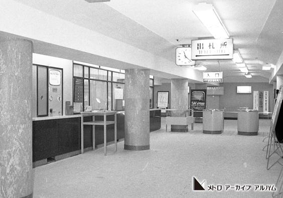 開業を控えた人形町駅