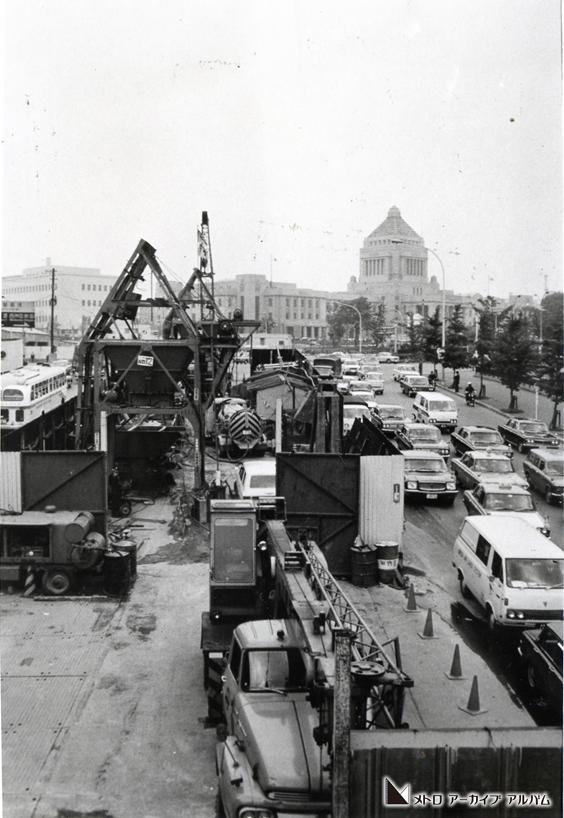 国会議事堂前駅付近の工事
