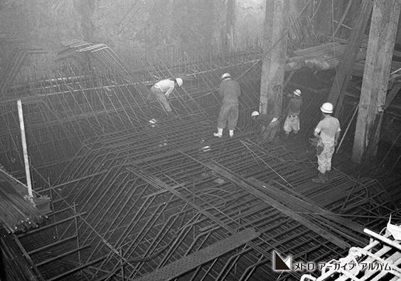 地下40mでの工事