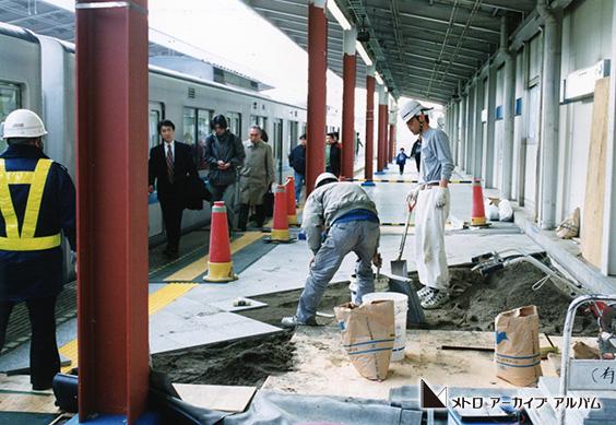 東西線西葛西駅改良工事 ホーム拡幅