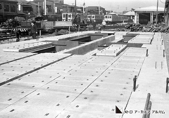 上野電車庫(上野車両基地)立体化工事