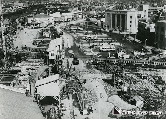 丸ノ内線建設工事 池袋駅東口付近