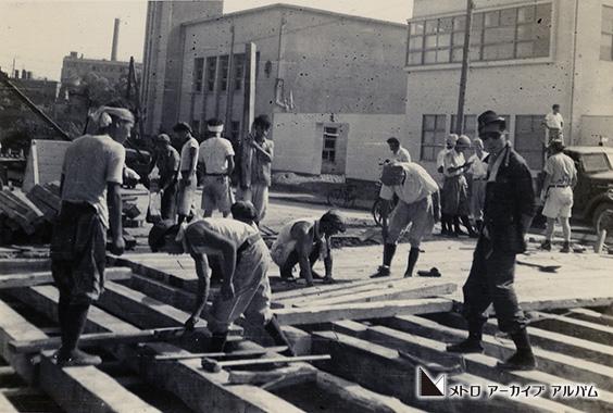 丸ノ内線建設工事 御茶ノ水駅付近