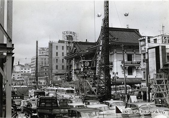 日比谷線建設工事 歌舞伎座付近