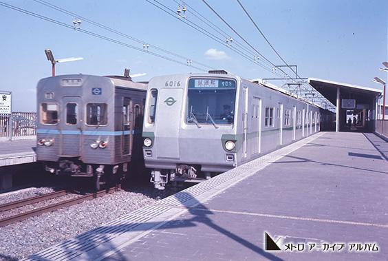 東西線・千代田線車両(浦安駅)