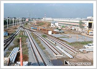 工事中の和光車両基地