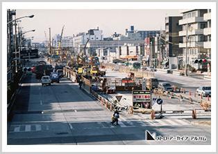 豊洲駅付近の工事