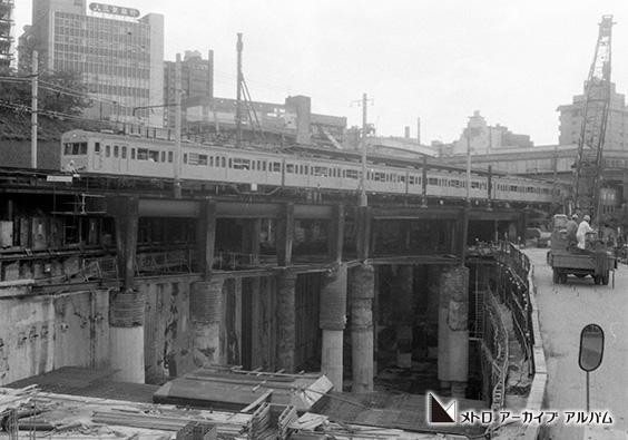有楽町線市ケ谷駅付近における国鉄線下受工事