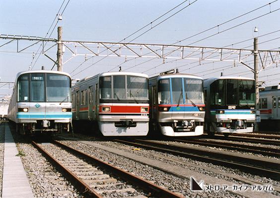 南北線 4社車両集合